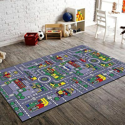 Children's Road and Town activity mat for the home non skid 5x7