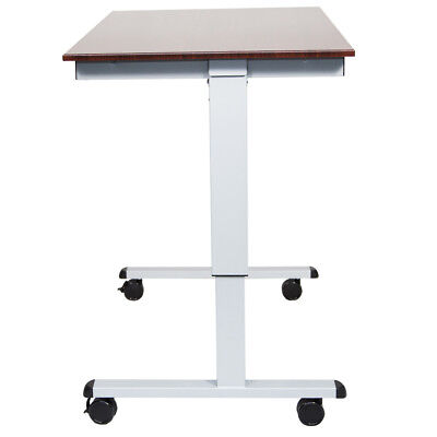 Luxor STANDE-48-AG/DW 48-Inch Gray/Walnut Adjustable Electric Standing Desk
