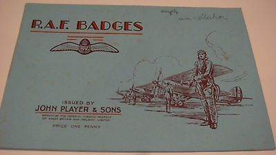 RAF BADGES PLAYERS  **EMPTY**ALBUM ON RAF BADGES  IN  THE 30's VERY GOOD