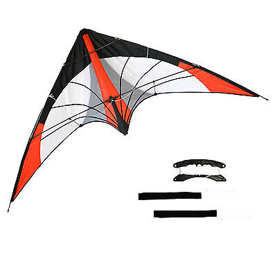 """Stunt Kite Sky Dancer - Red, With Proffesional Handles, 69"""" Width"""