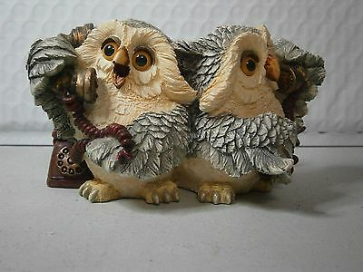Owl Figurine Owls On The Phone Whimsical By Natures Windows Cute