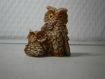 Owl Figurine Small Owls By Lipco Figural Birds Free USA Shipping