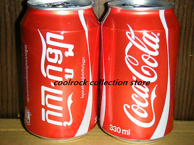 2016 Cambodia coca cola KHMER language regular coke can 330ml empty