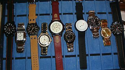TRADE  JOB LOT OF 10 NEW  X  MIXED WATCHES 100% new and working///..,