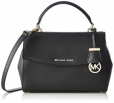 Michael Kors Ava Small Leather Satchel - Black - 30T5GAVS2L-001