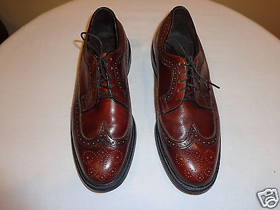 Vintage Executive Imperial Brown Leather Oxford Shoes 8.5 EE Made in USA