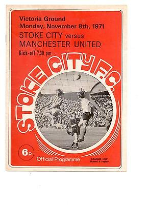 STOKE CITY v MANCHESTER UNITED (LEAGUE CUP) 1971/72