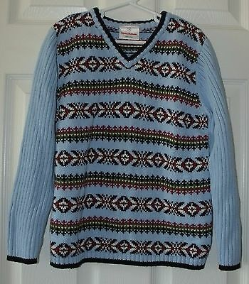 Girls Boys Hanna Andersson Nordic Knit Sweater Size 120 (7) Unisex