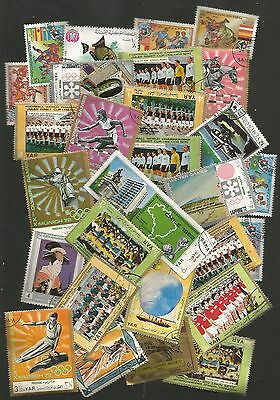 Job Lot Of 28 X 'yemen' Stamps