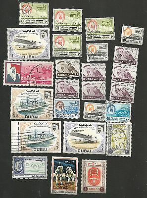 Job Lot Of 25 X 'dubai' Stamps