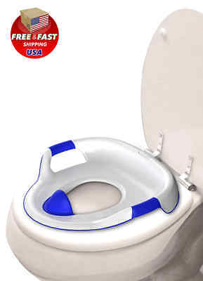 Seat Trainer Potty Toilet Training Toddler Baby Chair Kids Blue Portable