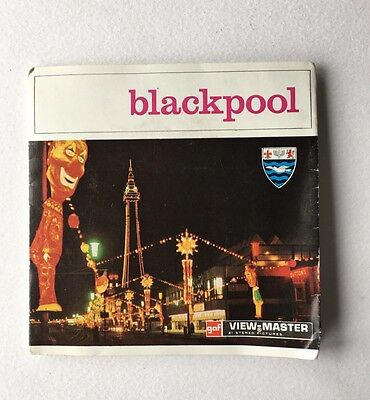 Vintage Sawyers View Master 3 Reel Set Blackpool England Great Britain
