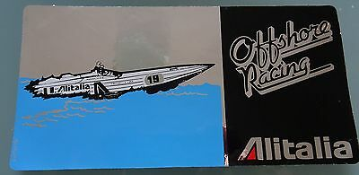 Alitalia - Offshore Racing Sticker - unused - rare