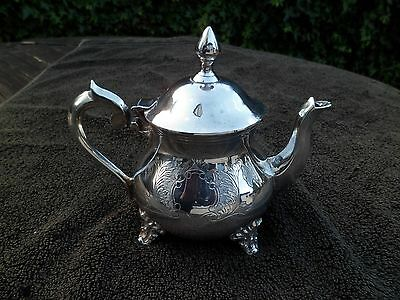 Victorian Silver Plated Teapot  Ornate Decoration