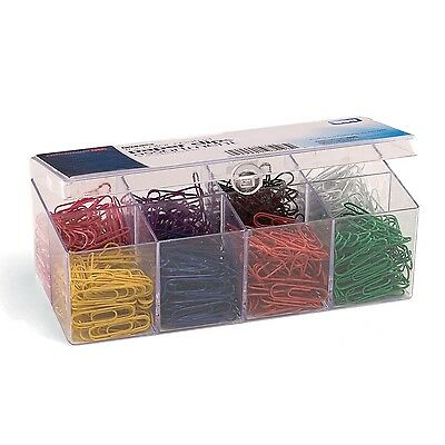 Officemate PVC-Free Color Coated Paper Clips #2 800 per Reusable NEW FREE SHIP