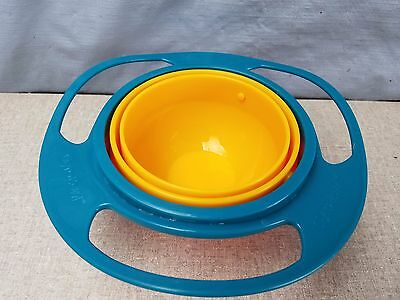 L@@K Non Spill Feeding Toddler Gyro Bowl 360 Rotating Baby Avoid Food Spilling