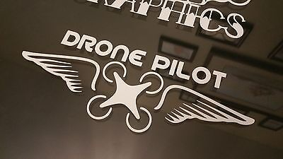 Drone Pilot Wings Vinyl decal Sticker DJI Inspire Phantom Vision.