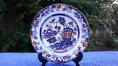 Good Antique Minton Amherst Japan Hand Painted Stone China Plate