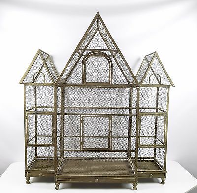 4 Foot Tall Vintage Wire Vintage Bird Cage *HUGE!*