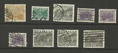 Austria 1929/32 Landscapes Used Collection