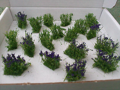 Wild /scruffy purple Shrubs for Model Railways/Diorama's/Dollhouses/Wargaming