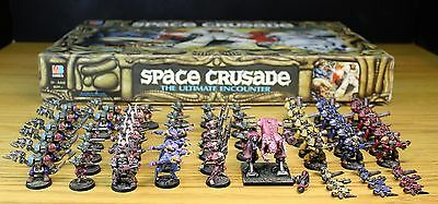 SPACE CRUSADE GAME 100% COMPLETE with nicely painted miniatures SET 25