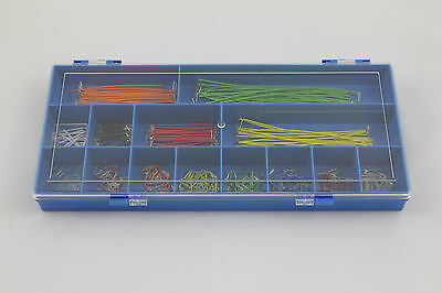 Maplin Jump Wire Kit - 25 each of 14 Lengths for Plugblocks in Plastic Case