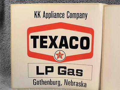 Lot Of 3 Texaco Peel And Stick Decals With Advertising