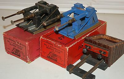 HORNBY SERIES O GAUGE 2 x No 2 HYDRAULIC BUFFERS WITH ORIGINAL BOXES + ANOTHER
