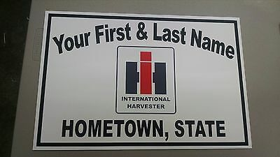 Personalized International-Harvester Aluminum Name Sign