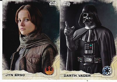 2016 Topps Star Wars Rogue One Comple Master Set 173 Count With Stickers