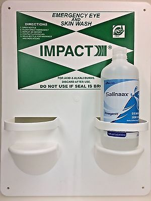 Impact Products LLC 16 Oz. Double Bottle Eye Wash Station With One Solution