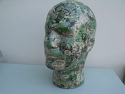Decopatch Male Mannequin Head - Marvel Comics - Green/grey/white