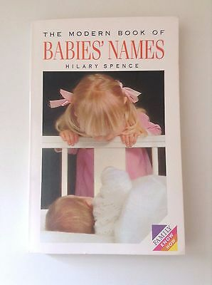 'the Modern Book Of Babies Names' Paperback By Hilary Spence