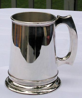 Silver Plated Glass Bottom Tankard