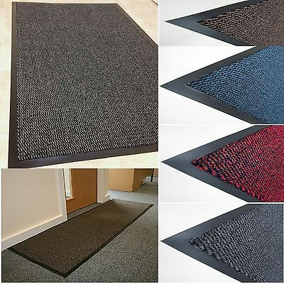 Large Small Non Slip Kitchen Heavy Duty Barrier Mat Rubber Back Door Hall Rugs