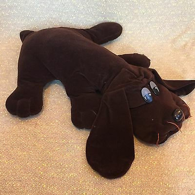 "Vintage Pound Puppies 25"" Large Puppy Dog Stuffed Plush Brown Long Ears Tonka"