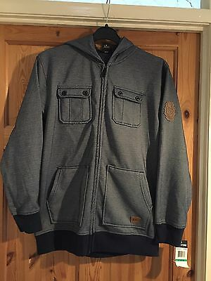 BNWT ZOO YORK Boys Blue Fleece Lined Hooded Top/Jacket Age 8yrs