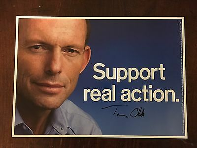 2010 Federal Election - Tony Abbott signed Campaign Poster 400mm x 300mm