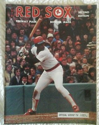 Jim Rice on Boston Red Sox 1978 Fenway Park Scorebook 2nd Edition Magazine