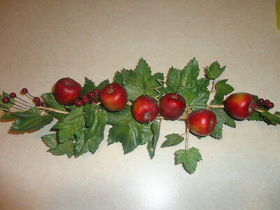 Home Interiors  13'' Red Apples & Berrys '' Swag/ Accents
