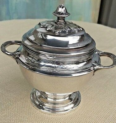 French Christofle Silver Sugar Bowl Container