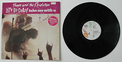 """PRINCE 12"""" Let's Go Crazy (Extended Version) / Erotic City 1985 EX/EX"""