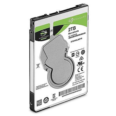 "Seagate BarraCuda ST2000LM015 2TB (2000GB) 2.5"" Internal Hard Drive for PC/PS4"