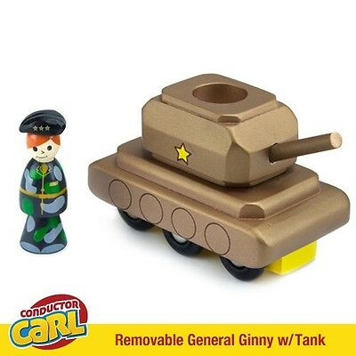 General Ginny Tank & Removable Character Compatible w/ Wood Train Sets