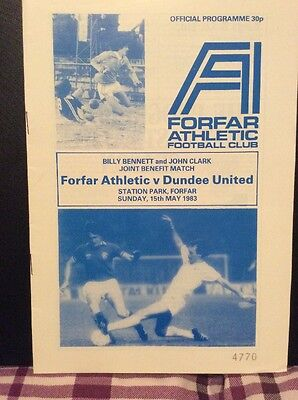 Forfar Athletic v Dundee United Testimonial 15th May 1983