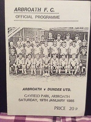 Arbroath v Dundee United Friendly 19th January 1985