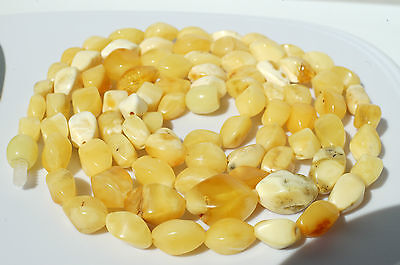 ANTIQUE BALTIC SEA AMBER NECKLACE 19 GRAMS,BEESWAX COLOR.我的微信amber7771988