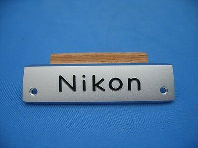 NIKON F NAME PLATE, LAST VERSION fits FTN FINDER, NEW OLD STOCK