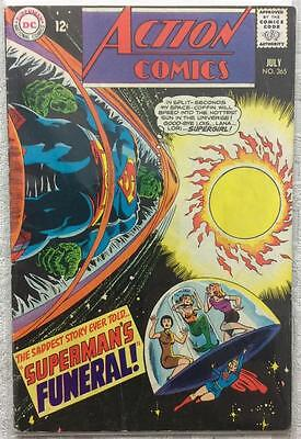 Action comics #365 (1st series ) 1968 VG+ condition. 48 year old classic.